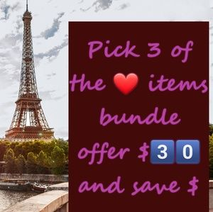 Other - Pick 3️⃣ ❤ items for 💲3️⃣0️⃣ bundle & offer